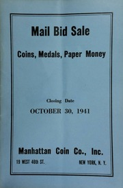 Mail bid sale : coins, medals, paper money. [10/30/1941]
