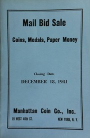 Mail bid sale : coins, medals, paper money. [12/18/1941]