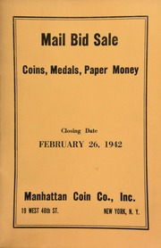 Mail bid sale : coins, medals, paper money. [02/26/1942]