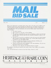 Mail Bid Sale: Fall 1987