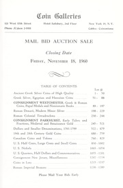 Mail Bid Sale: Featuring The Westchester Consignment of Roman Coins...