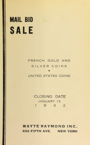 Mail bid sale : French gold and silver coins, United States coins. [01/13/1942]