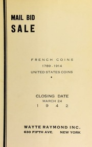 Mail bid sale : French coins, 1789 -1914 ... [03/24/1942]