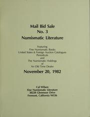 Mail Bid Sale No. 3 Numismatic Literature