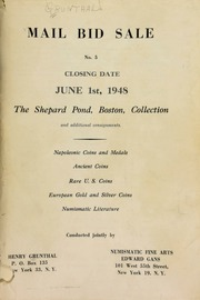 Mail bid sale No. 5 : The Shepard Pond, Boston, collection ... Napoleonic coins and medals ... [06/01/1948]