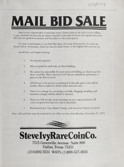 Mail Bid Sale: November 1977
