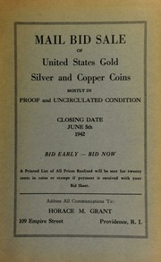 Mail bid sale of United States gold, silver and copper coins, mostly in proof and uncirculated condition. [06/05/1942]