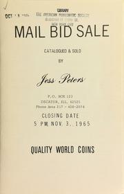 Mail bid sale : quality world coins. [11/03/1965]