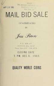 Mail bid sale : quality world coins. [12/08/1965]
