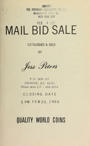 Mail bid sale : quality world coins. [02/23/1966]