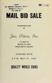 Mail bid sale : quality world coins. [05/31/1967]
