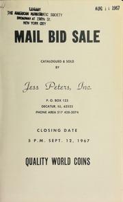 Mail bid sale : quality world coins. [09/12/1967]