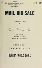 Mail bid sale : quality world coins. [10/24/1967]