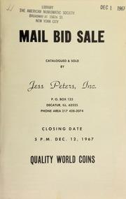 Mail bid sale : quality world coins. [12/12/1967]