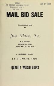 Mail bid sale : quality world coins. [01/30/1968]