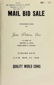 Mail bid sale : quality world coins. [03/12/1968]