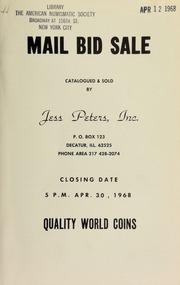 Mail bid sale : quality world coins. [04/30/1968]