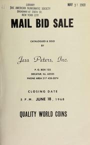 Mail bid sale : quality world coins. [06/18/1968]