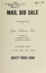 Mail bid sale : quality world coins. [09/10/1968]