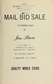 Mail bid sale : quality world coins. [04/12/1966]