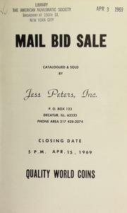 Mail bid sale : quality world coins. [04/15/1969]