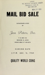 Mail bid sale : quality world coins. [12/16/1969]