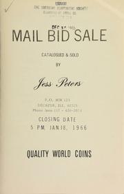 Mail bid sale : quality world coins. [01/18/1966]