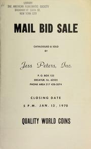 Mail bid sale : quality world coins. [01/13/1970]