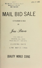 Mail bid sale : quality world coins. [05/17/1966]