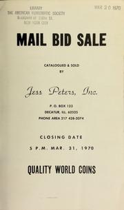 Mail bid sale : quality world coins. [03/31/1970]