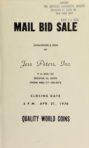 Mail bid sale : quality world coins. [04/21/1970]