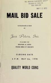 Mail bid sale : quality world coins. [05/26/1970]