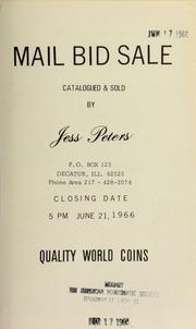 Mail bid sale : quality world coins. [06/21/1966]
