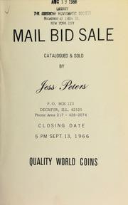 Mail bid sale : quality world coins. [09/13/1966]