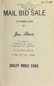 Mail bid sale : quality world coins. [10/18/1966]