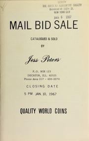 Mail bid sale : quality world coins. [01/10/1967]