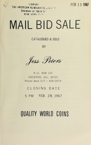 Mail bid sale : quality world coins. [02/28/1967]