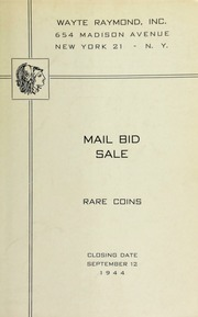 Mail bid sale : rare coins. [09/12/1944]