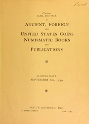 Mail bid sale : rare gold and silver coins : including splendid series of foreign crowns, United States silver and numismatic books. [09/06/1939]