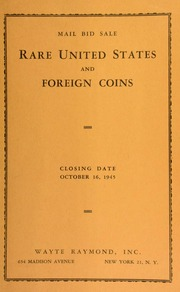 Mail bid sale : rare United States and foreign coins. [10/16/1945]