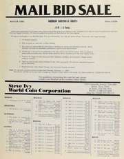Mail bid sale ... Steve Ivy World Coin Corporation. [02/11/1980]