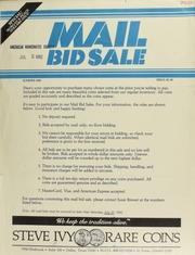Mail bid sale ... Steve Ivy Rare Coins. [07/10/1982]