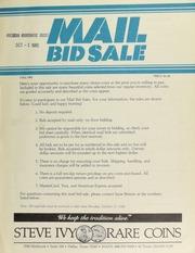 Mail bid sale ... Steve Ivy Rare Coins. [10/11/1982]