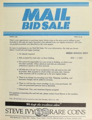 Mail bid sale ... Steve Ivy Rare Coins. [03/14/1983]