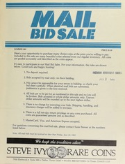 Mail bid sale ... Steve Ivy Rare Coins. [06/10/1983]