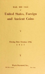 Mail bid sale : United States, foreign and ancient coins ... [10/29/1937]