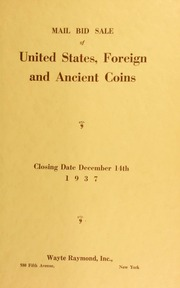 Mail bid sale : United States, foreign and ancient coins ... [12/14/1937]
