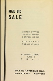Mail bid sale : United States gold, silver and copper coins, numismatic publications. [06/10/1941]