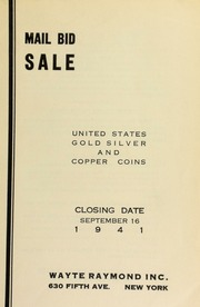 Mail bid sale : United States gold, silver and copper coins. [09/16/1941]