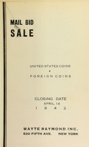 Mail bid sale : United States coins, foreign coins. [04/14/1942]